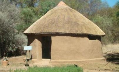 basotho house at medicinal garden