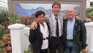 Cliff Richards with Alison Pekeur and Keith Kirsten at Chelsea 2012