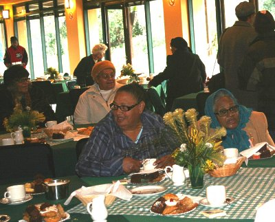 Senior citizens enjoying Mandela Day 2012 tea party at Harold Porter NBG