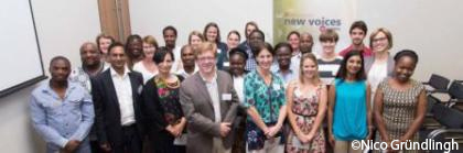2015 New Voices in Science finalists, event organisers and Stellenbosch University staff.