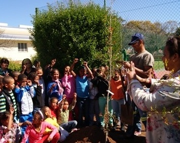 Arbor Day at Nuwehoop school for the deaf