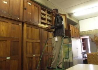 Wooden Herbarium cabinets