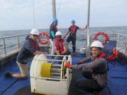 Crew on the deck