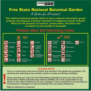 Free State Garden rules board