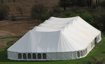 Marquee tent on the marquee lawn
