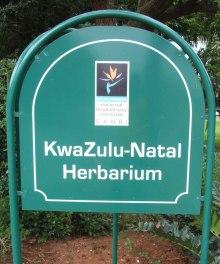 KwaZulu-Natal Herbarium Entrance