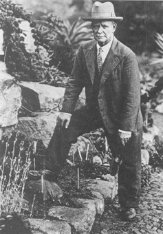 J.W. Mathews in the Mathews Rockery