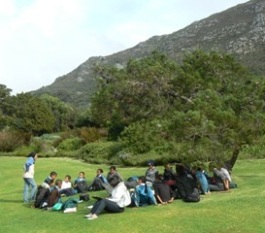 Playing a game to learn about plant adaptations in Kirstenbosch