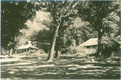 Early image (post 1939) of Tea House and Lecture Hall before glassed in stoeps