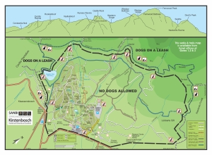 Kirstenbosch No Dogs Map