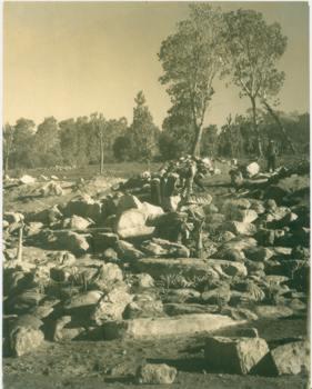 Rockery under construction ,mid 1920s