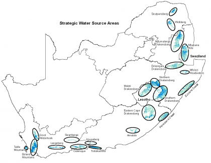Strategic Water Source Areas of Lesotho, Swaziland and South Africa
