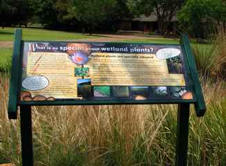 Wetland signage