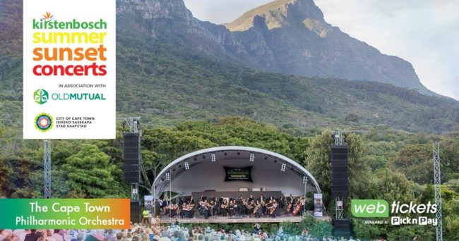 The Cape Town Philharmonic Orchestra at Kirstenbosch Summer Sunset Concerts