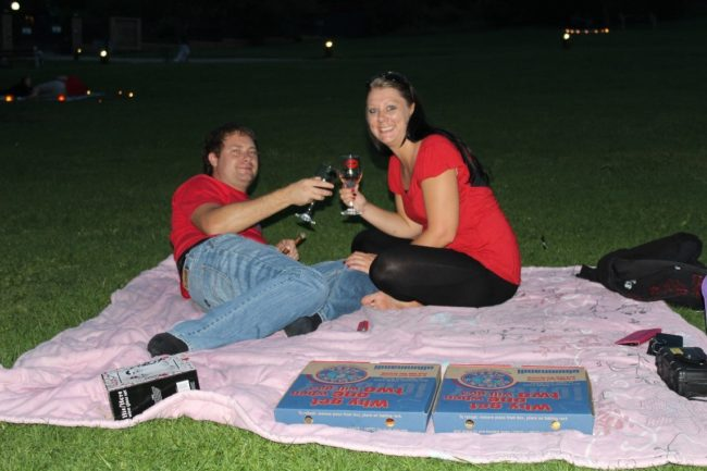 Valentine's Day picnic under the stars